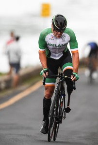 16 September 2016; Colin Lynch of Ireland in action during the Men's C1-3 Road Race at the Pontal Cycling Road during the Rio 2016 Paralympic Games in Rio de Janeiro, Brazil. Photo by Diarmuid Greene/Sportsfile